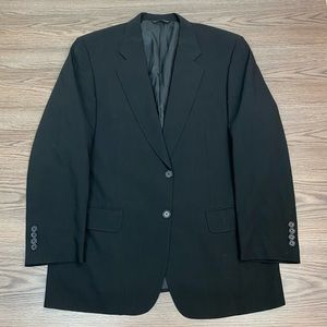 Samuelsohn Solid Black Blazer 42R